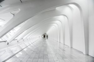 Curved walls are a display in museums